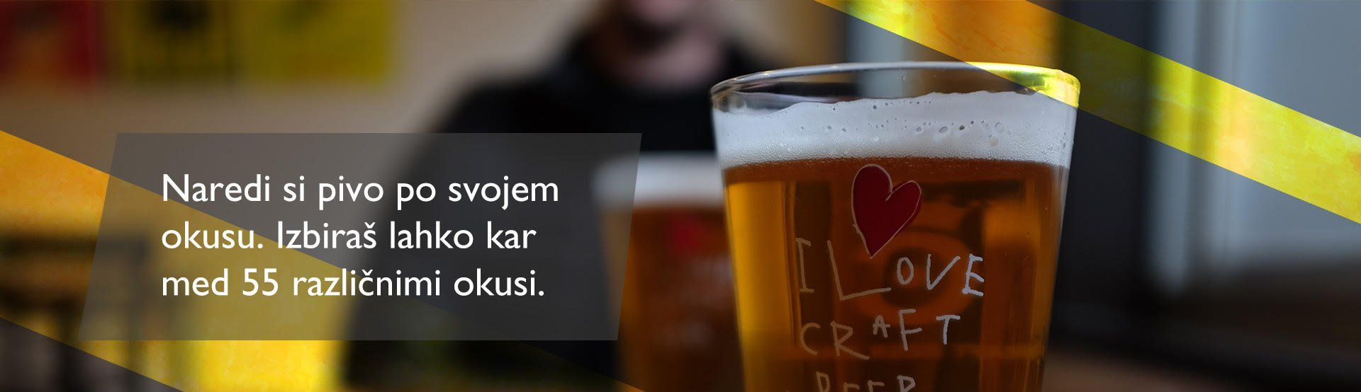 Naredi si pivo po svojem okusu. Izbiraš lahko med kar 55 različnimi okusi.